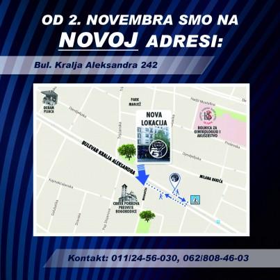 SELIMO SE MP Pansport Beograd sa Bulevar Kralja Aleksandra 183 na broj 242
